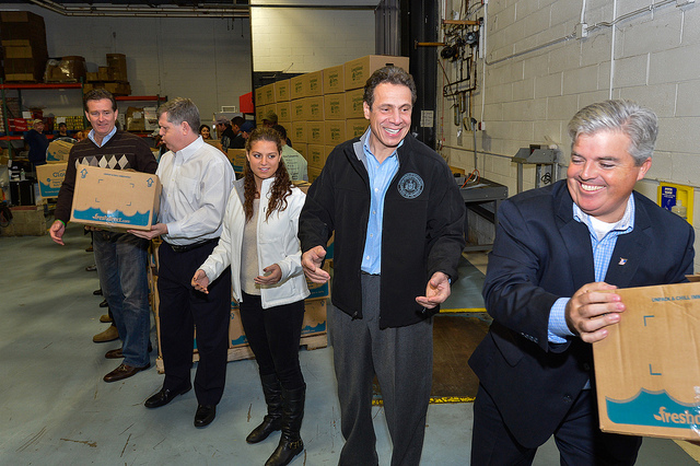 Governor Cuomo and daughter Cara in Hauppauge