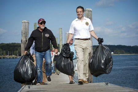Cuomo Billy Joel Oyster Bay Cleanup