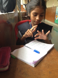 Girl at Aseema School