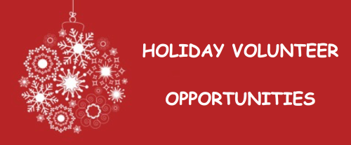 Holiday Volunteer Opportunities